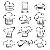 Chef hats collection  cartoon vector  illustration Royalty Free Stock Images