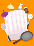 Chef Hats with Kitchen Elements. Vector Illustration of Chef Hats with Kitchen Elements Royalty Free Stock Photography