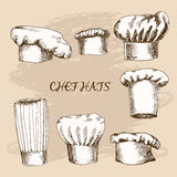 Chef hats. Stock Images