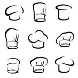 Chef hats set. Vector Royalty Free Stock Photos