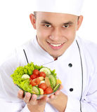 Chef with healthy food Royalty Free Stock Photos