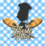 Chef Vector Illustration Design - bakery logo template stock photo