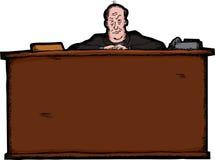 Chef hinter Schreibtisch Lizenzfreie Stockfotos