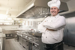 Chef in his kingdom Stock Photography