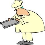 Chef Holding A Baking Sheet Royalty Free Stock Images