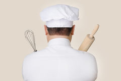 Chef Holding Baking Tools Stock Image