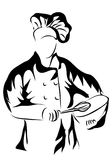 Chef holding a bowl Royalty Free Stock Images