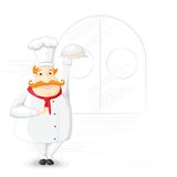 Chef holding Cloche Royalty Free Stock Photos