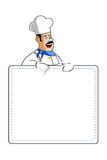Chef holding cooking card Royalty Free Stock Photos