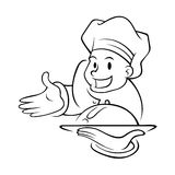 Chef Holding Food Tray Royalty Free Stock Photo