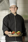 Chef Holding Fruit Royalty Free Stock Photos