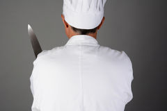 Chef Holding Knife Royalty Free Stock Photos