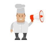 Chef holding megaphone Stock Photos