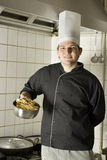Chef Holding Noodles Stock Photography