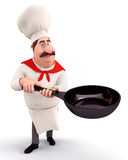 Chef holding a pan Stock Photo