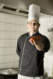 Chef Holding Tomatoes Royalty Free Stock Image