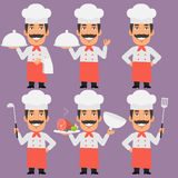Chef Holding Tray and Smiling Royalty Free Stock Images