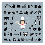 Chef holding a tray vector cartoon. Chef holding a tray of food vector cartoon Stock Photo