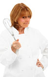 Chef Holding Whisk stock images