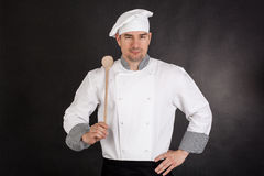 Free Chef Holding Wooden Spoon Royalty Free Stock Image - 40367026