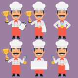 Chef Holds Cup and Medal Royalty Free Stock Photos