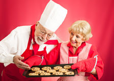 Chef and Housewife - Home Baked Cookies Royalty Free Stock Photography