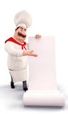 Chef with a huge bill Royalty Free Stock Images