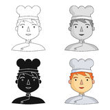 Chef icon in cartoon style isolated on white background. People of different profession symbol stock vector illustration Stock Photo