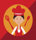 Chef icon design Royalty Free Stock Image