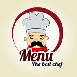 Chef icon Stock Images