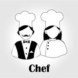 Chef icon Stock Image