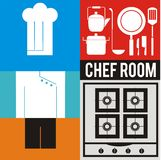 Chef icon set Royalty Free Stock Photos