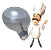 Chef with an idea. 3d generated Royalty Free Stock Images