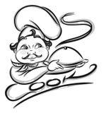 Chef illustration  on white Stock Photo