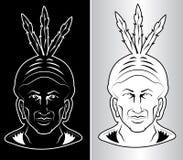 Chef indien nord-américain Images libres de droits