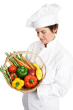 Chef Inspecting Produce Royalty Free Stock Photo