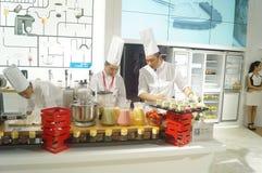 Chef interpretation of kitchen supplies Royalty Free Stock Photos