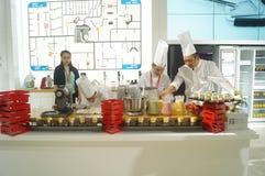 Chef interpretation of kitchen supplies Stock Images