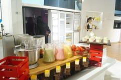 Chef interpretation of kitchen supplies Stock Photo