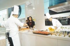 Chef interpretation of kitchen supplies Stock Image