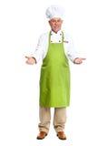 Chef inviting in restaurant. Stock Photos