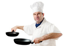 Chef isolated on white royalty free stock images
