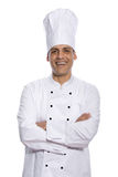Chef with arms crossed isolated on white background Royalty Free Stock Images