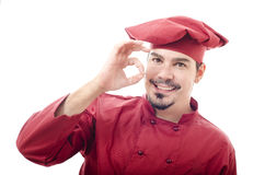 Chef isolated on white Stock Photos