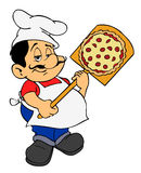Chef italien de pizza Images libres de droits