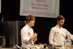 Chef Jordi Cruz 4 Sterne Michelin stockbilder