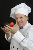 Chef Juggling Vegetables Royalty Free Stock Photos