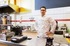 Chef am Kebabshop Lizenzfreies Stockbild