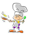 Chef kid - illustration. Little boy dreaming of becoming a great chef when I grow up Vector Illustration
