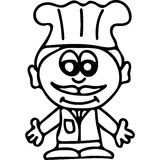 Chef  kids coloring page Royalty Free Stock Photography